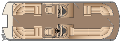 CWDH 3 GATE (no starboard gate - larger bow lounger)