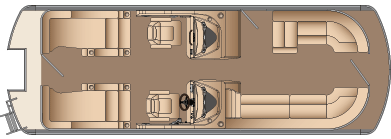 DLDH 3 GATE (no starboard gate - larger bow lounger)
