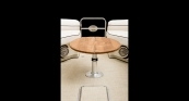 Teak Articulating Table - Down Position Open