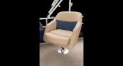 Helm Seat - Desert Camel Interior with Midnight Blue Main Boat Color