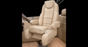 Grand Mariner - Flip-up Bolster UltraLux Helm Seat w/ Desert Camel Interior
