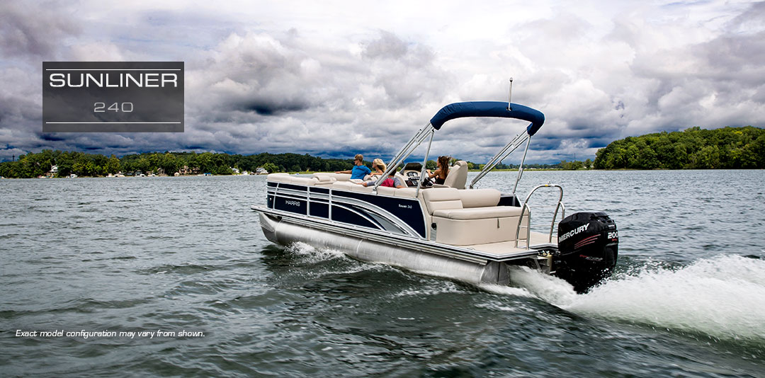 Harris Sunliner 240 Practical Family Pontoon Boats For Sale 2018