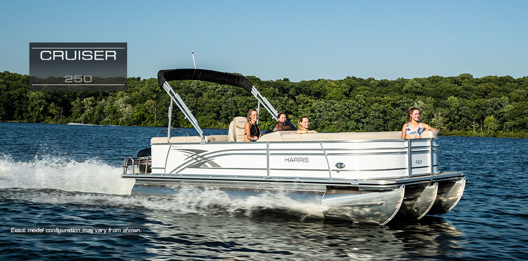 Cruiser 250: Harris Pontoon Boat | 25-Foot Party Boats : 2019 on