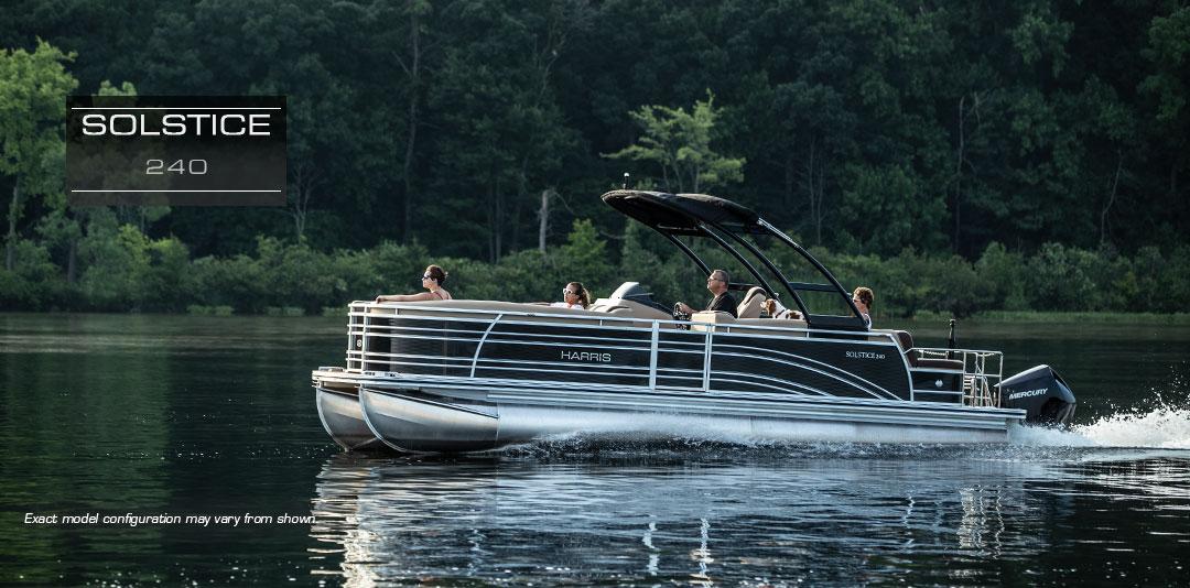 Solstice 240 Pontoon Boat   Large Capacity Family Pontoon Boats : 2019